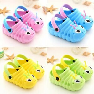 b703d4d38b4 Image is loading Toddler-Kid-Girls-Boys-Sandals-Croc-Caterpillar-Summer-