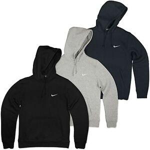 nike swoosh hoodie fleece kapuzen pulli sweatshirt jumper herbst sweater grau xl ebay. Black Bedroom Furniture Sets. Home Design Ideas