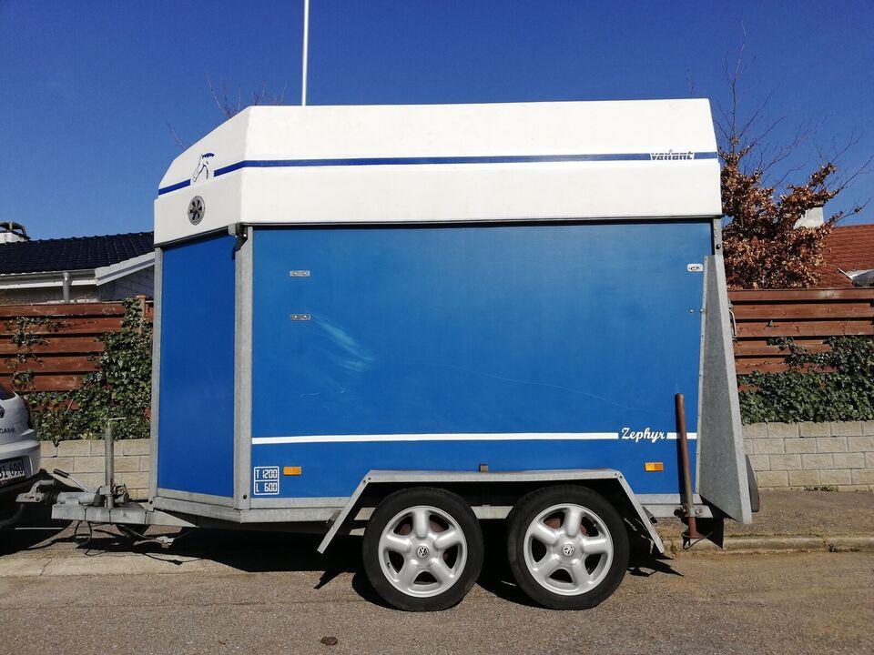 Hestetrailer, Variant, lastevne (kg): 600