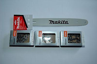 """35cm Schwert 3//8/""""P 2 Ketten 52TG 1,3mm für Makita DCS4610"""