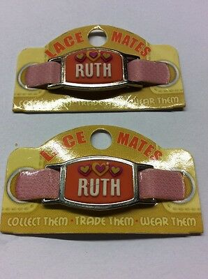 """Competente Ruth 2 Lace Mates """"ruth"""" (shoe Or Bracelet Charm) Party Favours Free Postage Lustro"""