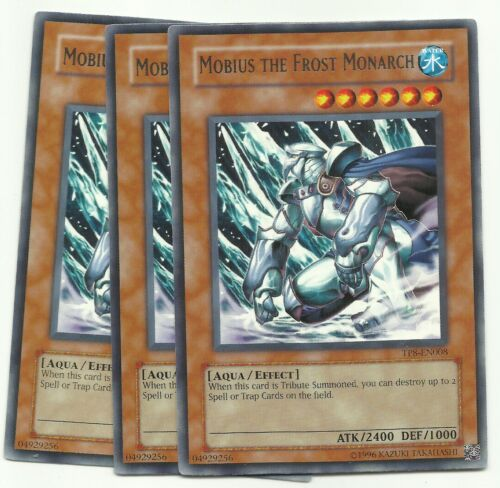 YUGIOH 3X Mobius the Frost Monarch - TP8-EN008 PLAYSET RARE   NEW!