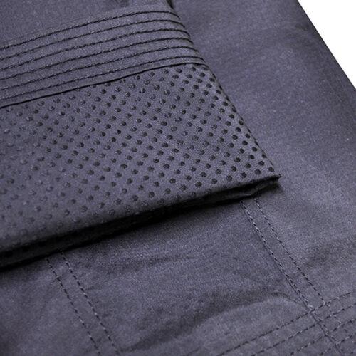 New Black Uniform Pants Dobok Gi Elastic Waist Taekwondo Karate Judo Jiu jitsu