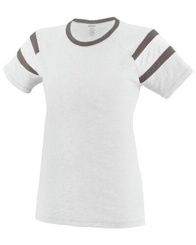 3011 Augusta Sportswear Women/'s New 50//50 Raglan Short Sleeve Fanatic T-Shirt