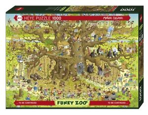MARINO DEGANO - FUNKY ZOO : MONKEY HABITAT - Heye Puzzle 29833 - 1000 Pcs.
