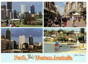 Perth-Capital-of-Western-Australia-Rare-Multiview-Postcard-Posted-March-1986