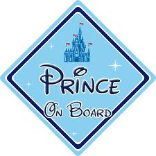 Disney Prince On Board Car Sign – Baby On Board – Disney Castle