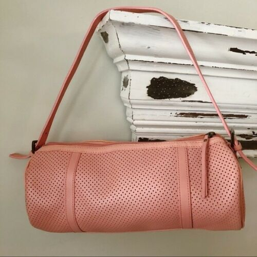 Latico Salmon Pink Leather Barrel Bag Preowned