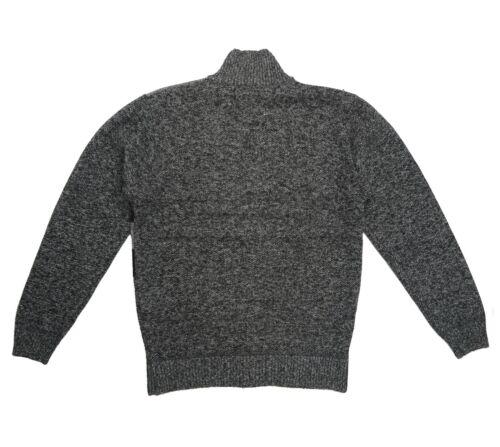 Men/'s Mock Neck Fur Lined Sweater Jacket Full Zipper Warm Wool Size M-2XL New