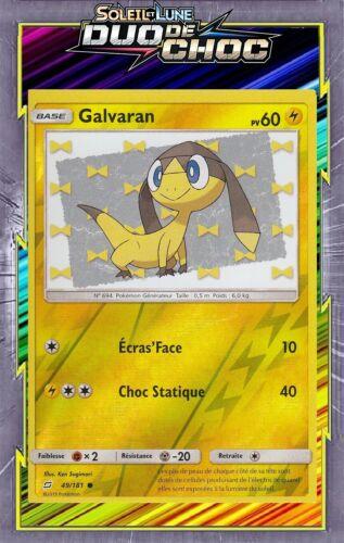 Carte Pokemon Neuve Française SL09:Duo De Choc Galvaran Reverse 49//181