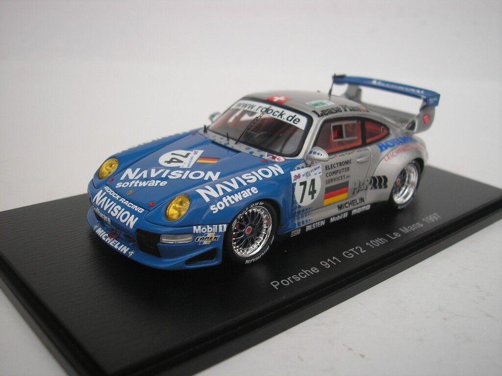PORSCHE 911 GT2 th LE MANS 1997 B. EICHMANN 1 43 SPARK S5514 NEU