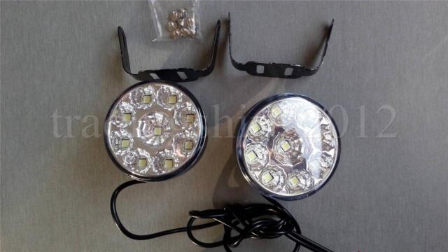 New 2x 9 LED Daytime Running Lights Lamps DRL Xenon White 12V E4 Universal Car