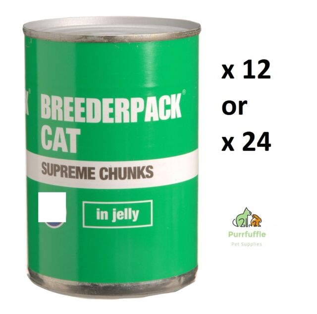 BREEDERPACK CAT SUPREME CHUNKS IN JELLY VARIETY PACK Wet Food - 12 or 24 Tins