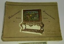Antique book catalogue COLOR Argentina in Spanish FURNITURE French Victorian etc