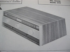 BELL-SOUND-2441-TUNER-RECEIVER-PHOTOFACTS-PHOTOFACT
