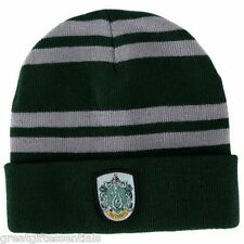 HARRY POTTER Slytherin House Beanie Cap HAT w/ CREST LICENSED Green Hogwarts NEW