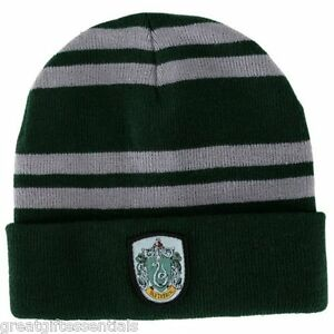 4383110517f HARRY POTTER Slytherin House Beanie Cap HAT w  CREST LICENSED Green ...