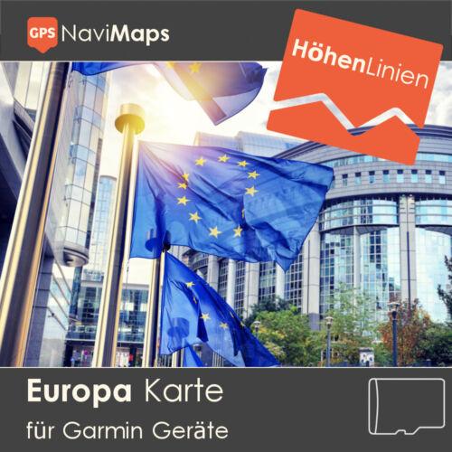 Tarjeta Topo Europa Alemania Garmin Colorado Dakota Montana GPSMAP etrex Edge