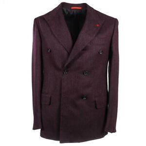NWT-3590-ISAIA-Slim-Fit-Plum-Woven-Wool-Cashmere-Silk-Sport-Coat-38-R-Eu-48