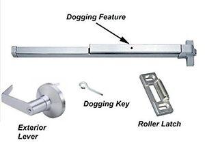 Door Panic Bar Push Bar Panic Exit Aluminum With Exterior
