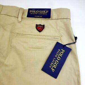 Polo-Ralph-Lauren-Classic-Fit-Mens-Chino-Stretch-Twill-Golf-Shorts-Khaki