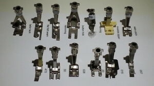 Details about Bernina presser feet - 13 old style - 7, 16, 20, 28, 30, 470  and 7 unnumbered