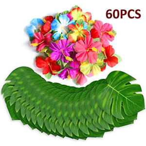 60-Table-Decorations-Supplies-Moana-Themed-Party-Tropical-Luau-Hawaiian-Leaves