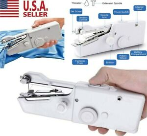 Hand Held Sewing Machine Singer Portable Stitch Sew Quick Handy Cordless