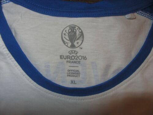 Slovakia UEFA Euro 2016 Mens Soccer T-shirt EUC Slovensko White Size XL