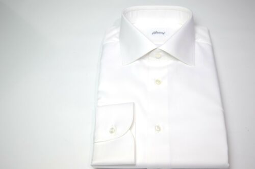 Euse42 18 Brioni 46 overhemd 100katoen Nieuw White Maat Us XZPkiu