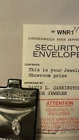 Vintage Estate Lindenwold's Fine Jewelers Simulated Loose Diamond/in Pouch