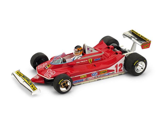 Ferrari 312 t4 gp francia 1979 gilles villeneuve + Driver 1 43 2012 Model