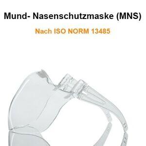 Schutz Maske durchsichtig Mund-Nasenschutz Hartschale Brillenträger geeignet