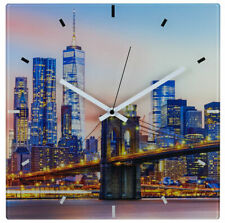 Wallario Design Wanduhr Acrylglas 30 x 60 cm Tokyo Skyline Nacht haus stadt