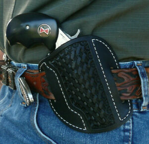 Leather-Cross-Draw-Holster-NAA-Black-Widow-North-American-Arms-Ruff-039-s-Black