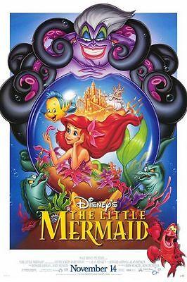Walt Disney's Classic THE LITTLE MERMAID RR1997 Original Promo Mini Movie Poster