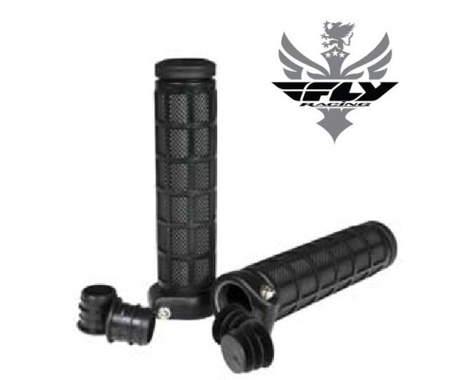 NEW FLY RACING PWC PERSONAL WATERCRAFT ATV BMX CYCLE RED GRIP LOCK ON GRIPS