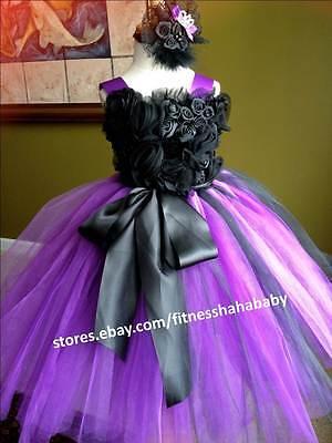 tutu dress lace satin flowers wedding party baby shower birthday girl photo
