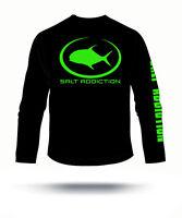 Salt Addiction Long Sleeve Fishing T Shirt Saltwater Flats Life Rod Permit Ocean