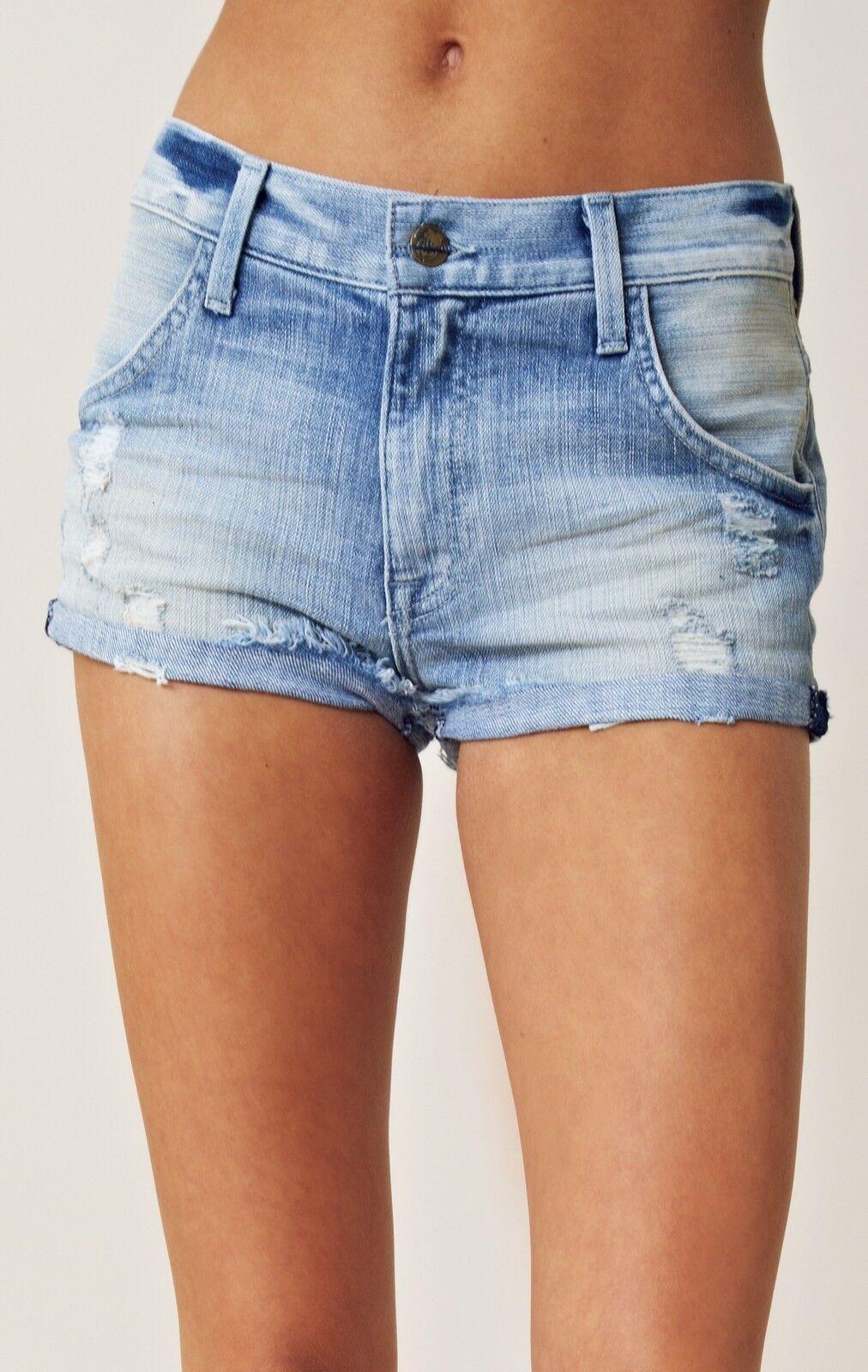 Wildfox Couture Vintage Retro bluee Michelle Secret High Waist Jeans Denim Shorts