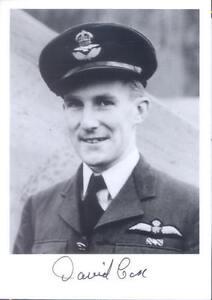 RAF Spitfire Battle of Britain Ace COX DFC signed photo cockpit
