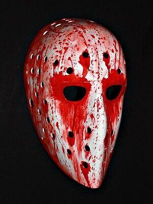 Custom vintage fiberglass hockey goalie mask helmet BLOOD Lindbergh FLYERS HO09