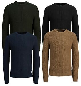 3e528b742 JACK & JONES Cotton Blend Crew Neck Knit Pullover Jumper Sweater Top ...