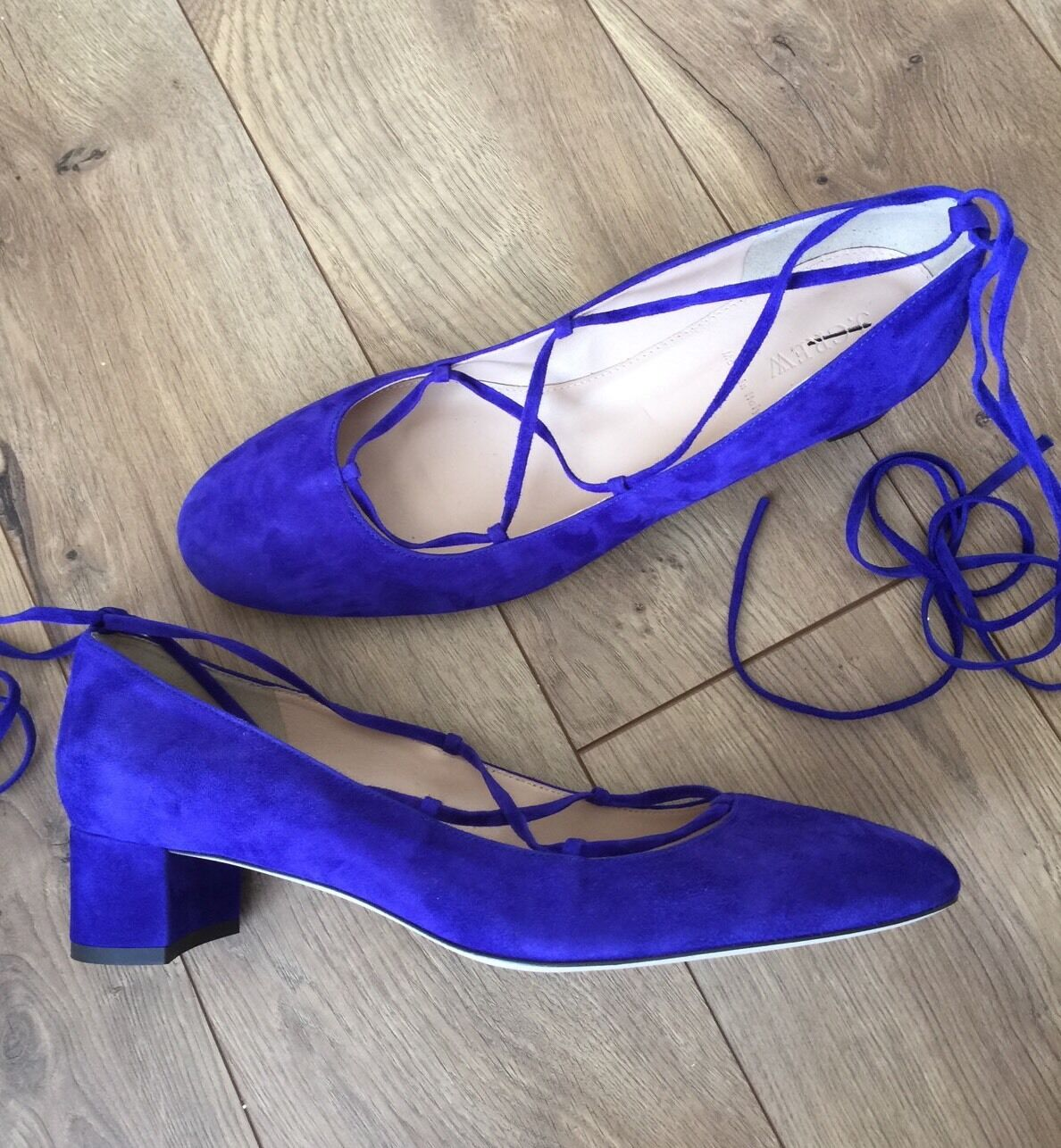 JCrew  218 Lace-Up Heels in Suede 12 Brilliant Purple f4867 Block Shoes