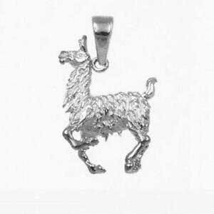 Sterling-Silver-LLAMA-3D-Solid-Pendant-Charm-Made-in-USA