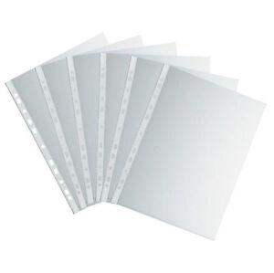 100 Prospekthüllen Klarsichthüllen, DIN A4, oben offen, genarbt, NEU & OVP