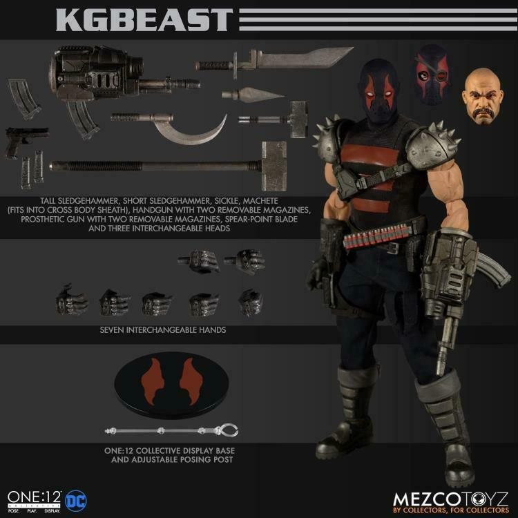 One12 Collective KGBEAST DC MARVEL ACTION FIGURE Mezco Toyz