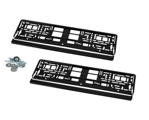 2 Support de plaque d/'immatriculation plaque support Brillant Noir pour e90 e91 e92 khp/_1