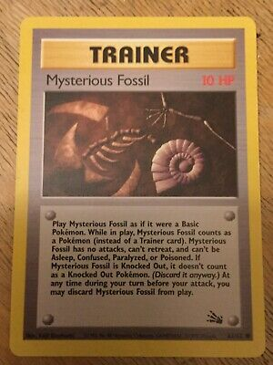 Pokemon Fossil Set 1st Edition Card Mysterious Fossil Trainer 62//62 Mint