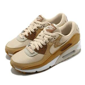 Nike-Wmns-Air-Max-90-Caramel-Oatmeal-Beige-White-Women-Casual-Shoes-CZ3950-101